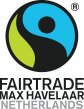Logo Fairtrade Max Havelaar met de link naar de Max Havelaar Fairtrade pagina.